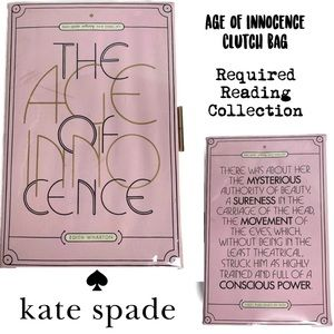 Kate Spade Age of Innocence Book Clutch Text Novel